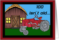 Tractor 100th Birthday Card