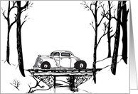 Over The River Hot Rod Holiday Card