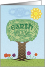Earth Day card with Celtic Knotwork theme, blank inside card