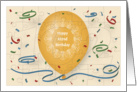 Happy 102nd Birthday with blue balloon and puzzle grid card