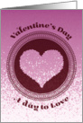Valentine's Day card with Seal card
