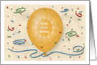 Happy 103rd Birthday with orange balloon and puzzle grid card
