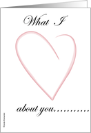 What I Love About You card