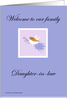 Welcome Daughter-in-law card
