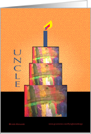 Abstract Birthday Uncle card
