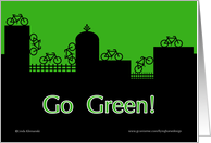 City Skyline Go Green card