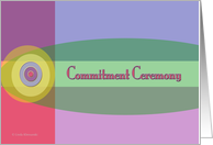 Commitment Ceremony card