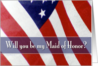 Military Maid of Honor? card