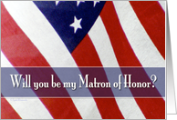 Military Matron of honor card
