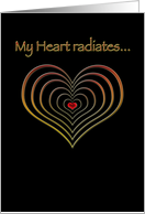 Radiating Heart card