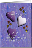 Hearts Daughter card