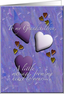 Hearts Grandchildren card