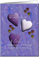 Hearts Aunt card