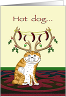 Hot dog Business Holiday card
