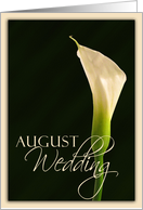 August Calla Lily card