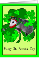 Possum St. Paddy's card