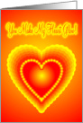 Glowing Heart card