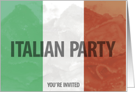 Italian party invitation card