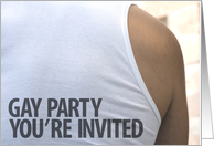 gay party invitation card