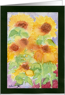 Watercolor Sunflowers Art All Occasion Encouragement Christian card