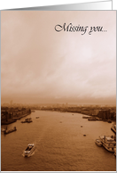 Missing you blank card~River Thames in London card