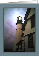Birthday,Wife, Lighthouse Roofs card