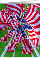 Labor Day, Flag Windmill Effect card