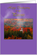 Thanksgiving, Parents, Church in Fall Foliage card