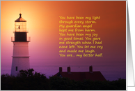 Father's Day, Husband, Lighthouse at Twilight card