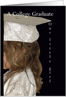 Graduation, College, Girl, Small Girl in Cap and Gown card