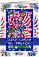 Congratulations, Promotion, Chief Petty Officer, Flag Pinwheel card