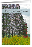 Congratulations, Passed Your PE Exam, Red Windmill in Autumn card