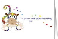 fathers day little monkey card