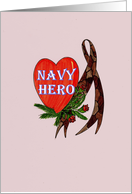 Camouflage Ribbon - Valentine Navy Hero card