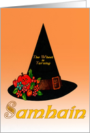 Samhain ~ Hallowe'en, All Hallows Eve, Invitation ~ Oct 31st card