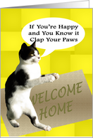 Happy Cat Welcome Home card