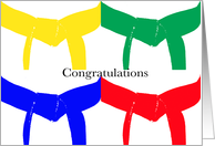 Martial Arts Congratulations - Colored Belts card