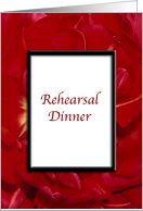 Wedding Rehearsal Dinner Invitation - Red Flowers card
