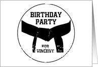 Birthday Party Invitation Martial Arts Black Belt card