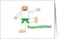 Martial Arts - Congratulations - Green Belt card