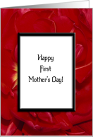 Happy First Mother's Day - To New Mom - Red Tulip Flower card