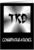 Congratulations - Taekwondo card