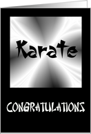 Congratulations - Karate card