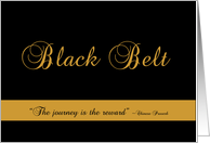 Congratulations on Earning Your Black Belt card