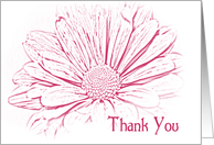 Thank You for Being in Our Wedding - Pink Daisy Flower card