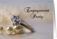 Engagement Party Invitation - Diamond and Pearls card