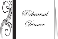 Rehearsal Dinner Invitation - Black and White card