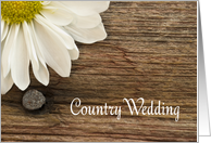 Daisy Country Wedding Save the Date Announcement card