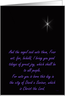 Merry Christmas: Star of Bethlehem card