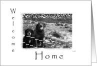 Welcome Home From Pet: dog card